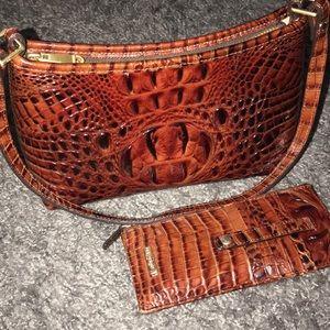 Small Brahmin shoulder bag w/ wallet